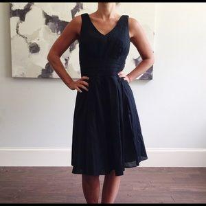 WHBM Black Sleeveless Midi Dress 10